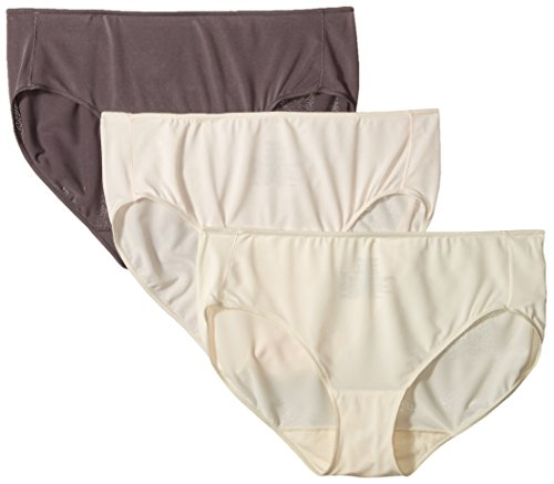 Hanes Women's Smooth Stretch Hipster Panty, Assorted, 9 (Pack of 3)