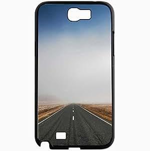 Unique Design Fashion Protective Back Cover For Samsung Galaxy Note 2 Case Mist Way Scenery Black