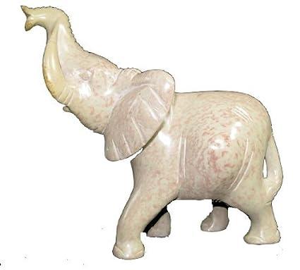 Stone Elephant /& Baby by Shona People of Zimbabwe 9 cm