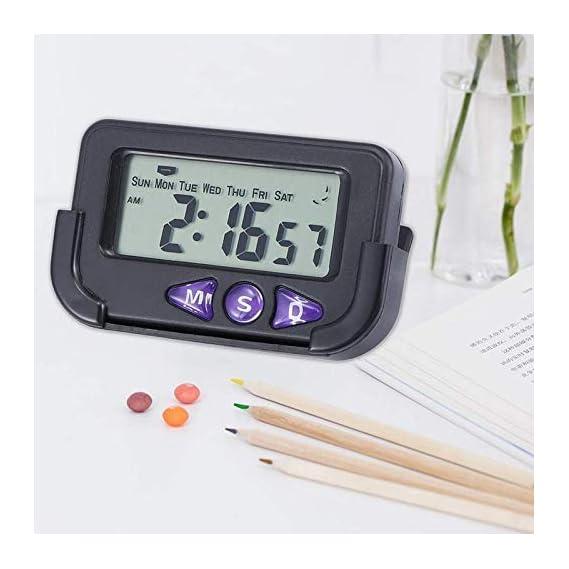 Milan Trading Smart Battery Operated Mini Digital LED Car Dashboard Watch