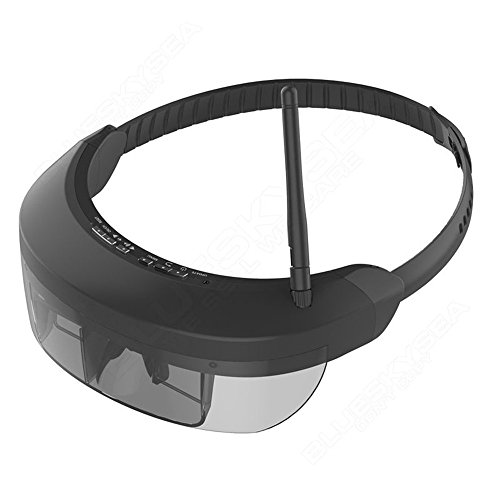 """Seesii Wireless 40CH FPV FPV Goggles 3D Video Glasses Receiver 98"""" With Earphone For DJI Phantom 4/3 Racing Drone New"""