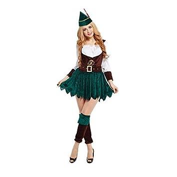 Mujer Sexy Disfraz Robin Hood Peter Pan Adulto Doncella ...