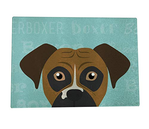 Mystic Sloth Adorable Dog Breed Specific Glass Cutting Board (11