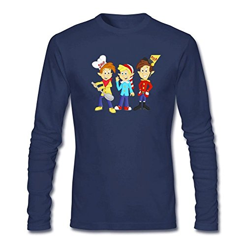 Snap Crackle Pop Halloween (Tommery Men's Snap, Crackle and Pop Long Sleeve Cotton T Shirt)