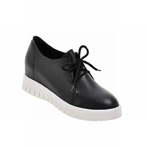 Oxfords Casual Black Wedge Hidden Comfort up Lace Carolbar Heel Fashion Womens Shoes pwxnUw4qR