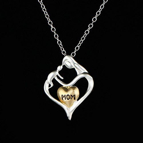 Pendant Family Mom Loves Baby MomLetter Heart Charm For Mother Necklaces