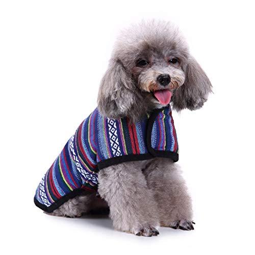 Nesutoraito Cat Dog Poncho Sweater for Small Medium Large Dogs Fleece Jacket Warm Coat Pet Apparel Costume