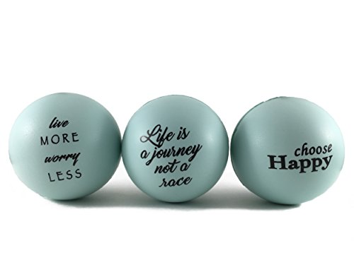 STRESS less - Stress Balls with Inspirational Life Quotes, Stress Relief for Adults and Kids (3 pack stress balls )