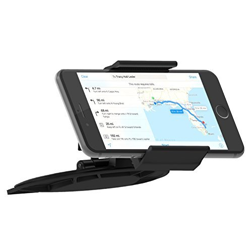 Skiva Universal Smartphone CD Slot Car Mount Holder for iPhone SE 6 6s Plus 5S 5C 5, Samsung Galaxy S7 S6 Edge Edge+ S5 S4 Note5 Note4 Note3, Nexus 5X 6P, LG G5 G4, HTC One M9 M8 & more