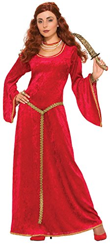Ladies Long Ruby Priestess TV Film Princess Throne Game World Book Day Week Carnival Halloween Fancy Dress Costume Outfit UK -