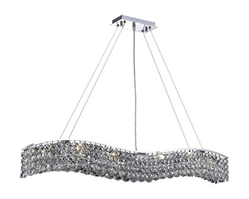 Dakota Chrome Traditional 10-Light Hanging Chandelier Swarovski Spectra Crystal in Crystal (Clear)-1735D44C-SA--5