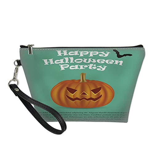 makeup bag cosmeticportable makeup bagWicked pumpkin for Halloween Jack Lantern2 8.5