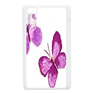 C-Y-F-CASE DIY Design Colorful Flower Butterfly Pattern Phone Case For Ipod Touch 4