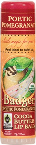 Badger Poetic Pomegranate Cocoa Butter Lip Balm - .25oz (Pomegranate Lip Butter)