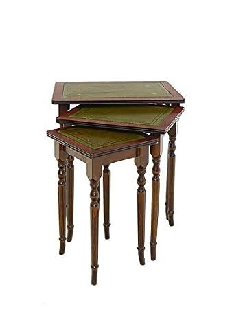 Tisch Beistelltisch Telefontisch 3er Set Englischer Antiker Stil