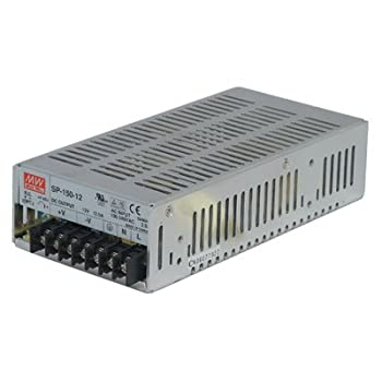 "Mean Well SP-150-5 Power Supply, Single Output, 5 Volt, 30 Amp, 150 Watt, 7.0"" L x 3.9"" W x 2.0"" H, Silver"