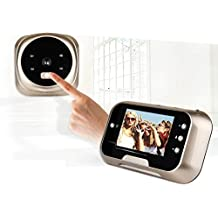 RHX 3 Inch Video Door Phone Intercome Doorbell Security Camera with Chime Real-Time Two-Way Talk & Video IR Night Vision Super Wide Angle PIR Motion Detection