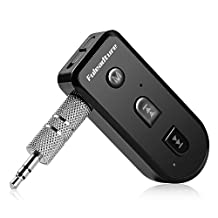 Bluetooth Receiver, Fuleadture Mini Wireless Bluetooth V4.1 Music Adapter Hands-Free Car Kit for Car/Home Audio/Music Streaming Sound System