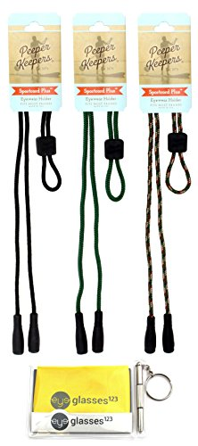 Peeper Keepers PK320, w/Cloth & Screwdriver, Black/Forest/Camo, 3 Pack by Peeper Keepers