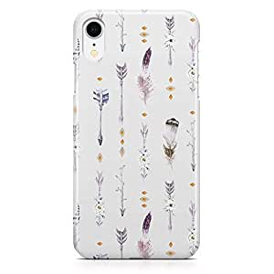 Loud Universe Phone Case For iPhone XR Boho Grey Phone Case Arrow Pattern 3D iPhone XR Cover