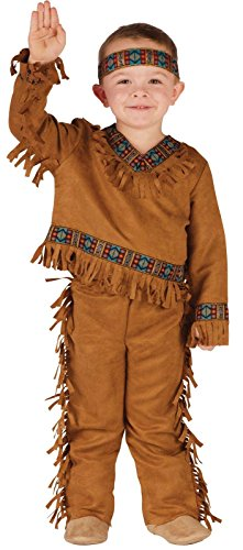 [Fun World Costumes Baby Boy's Native American Toddler Boy Costume, Tan, Small] (Small Toddler Toddler Costumes)