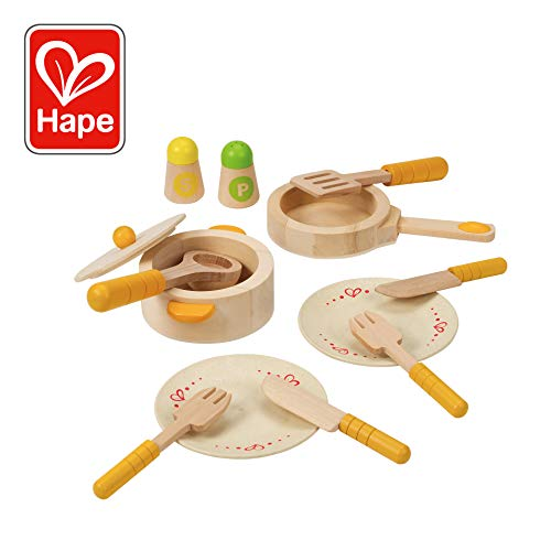 (Hape Gourmet Play Kitchen Starter Accessories Wooden Play Set)