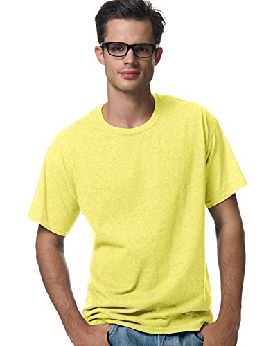 - Hanes Heavyweight 50/50 - 50/50 Cotton/Poly T-Shirt, Youth MEDIUM (10-12), Yellow