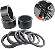 PLATT 10 Pieces Bike Headset Spacer Full Carbon Fiber Bicycle Stem Headset Spacer Fit 1 1/8-Inch Compatible wi