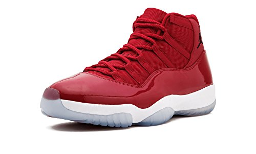 Jordan Men's Air 11 Retro, GYM RED/BLACK-WHITE, 9 M US