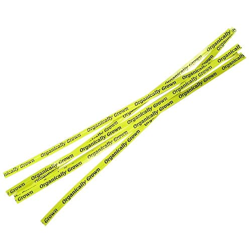 (T&T Industries Organically Grown Twist Tie Yellow, 18