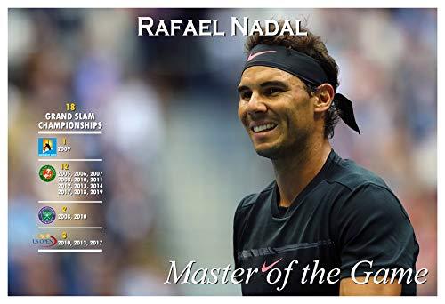 PosterWarehouse2017 Rafael Nadal - Winner of 18 Grand SLAM Titles - 19