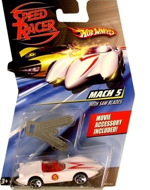 Hot Wheels Speed Racer Mach 5 With Saw Blades Vehicle (Mach 5 Toy Racers)