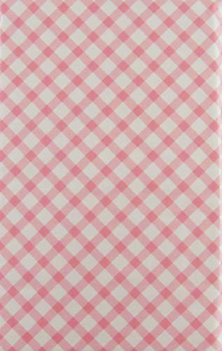 Happy Easter Pastel Check Pattern Vinyl Flannel Back Tablecloth (60