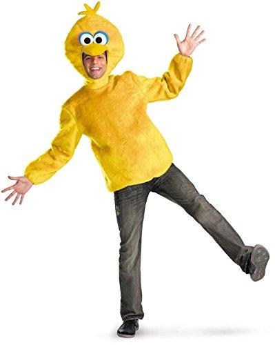 [Disguise Unisex Adult Male Big Bird, Yellow, X-Large (42-46) Costume] (Big Bird Male Costumes)