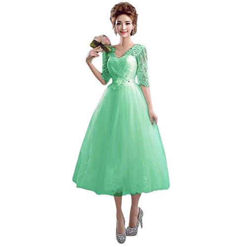 Vestido Mujer Verde Trapecio 46 Vimans Para Menta dtwSdqf