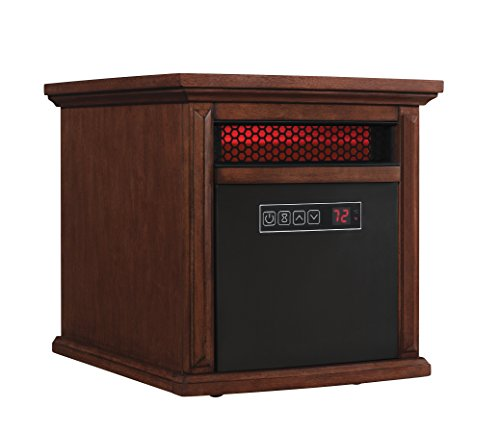 Duraflame 9HM9273-W500 Livingston Portable Electric Infrared Quartz Heater, Walnut Brown