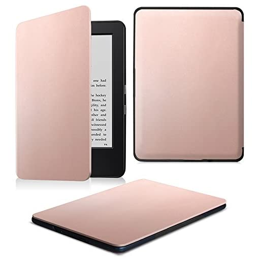 FINTIE Kindle 7th Gen SlimShell Case – The Thinnest and Lightest Cover for Kindle 7th Generation (2014 Model All-new Kindle with Touch), Rose Gold