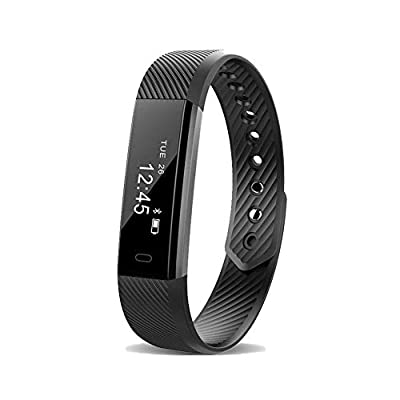 Harwerrel Fitness Activity Tracker Smart Bracelet Pedometer Bluetooth Call Remind Remote Self-Timer Smart Watch Distance Calorie Counter Wireless Sport Band Sleep Monitor for Android iOS Smartphone