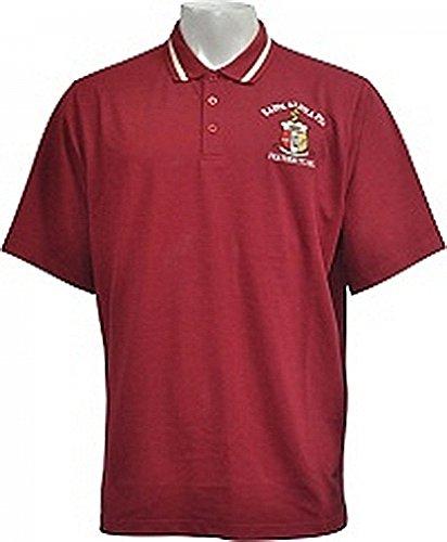 (Buffalo Dallas Kappa Alpha Psi Shield Solid Color Polo Golf Mens Tee [Short Sleeve - Crimson Red - 3XL])