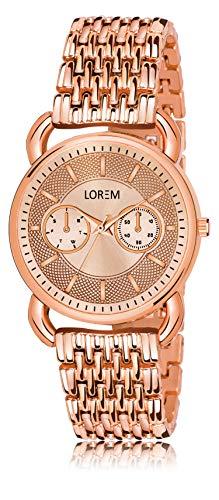 LOREM Analogue Multicolor Dial Women's Watch  Copper