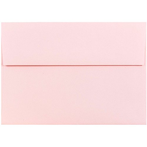 "JAM Paper A7 Invitation Envelope - 5 1/4"" x 7 1/4"" - Light Baby Pink - 50/pack"