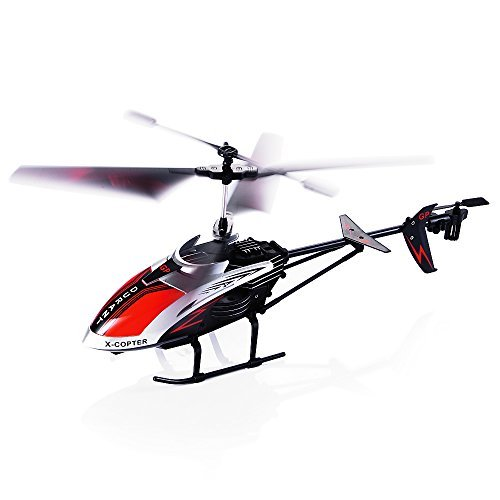 Outdoor Remote Control Helicopter (RC Helicopter, 3.5 Channel Durable Remote Controlled Helicopter with Gyro and LED Light for Indoor Outdoor, Ready to Fly RC Airplane Model Best Birthday Toy Gift for Kids, Boys & Girls and Even Adults)
