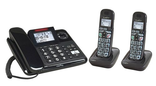 Clarity E814 Moderate Hearing Loss Cordless Phone with E814HS Expandable Handset
