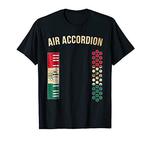 Air Accordion Shirt, Mexican Flag Colors + Golden Elements