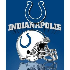 Fleece Lightweight Colts Indianapolis (The Northwest Company Indianapolis Colts NFL Lightweight Fleece Throw 50