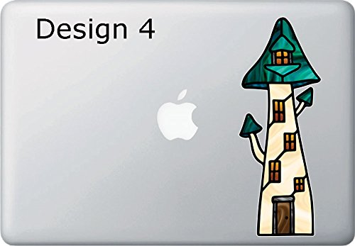 """Price comparison product image Mushroom Village D4 - Fairy House - Gnome Home - Fantasy - Vinyl Macbook Laptop Decal Sticker YYDC (VARIATIONS AVAILABLE) (MD 3""""w x 8""""h) (D4)"""