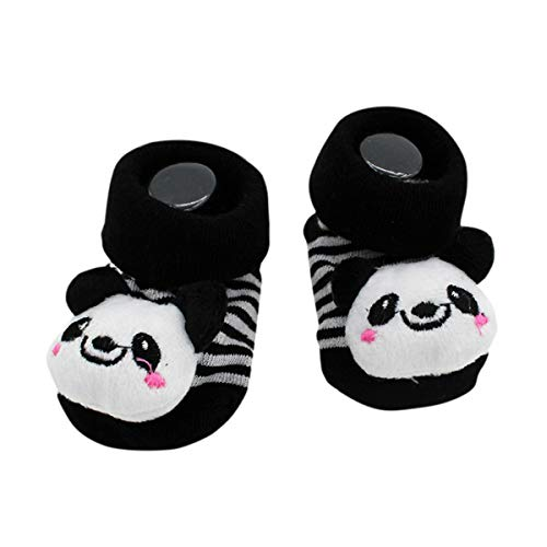 Cute Baby Rattle Socks Kung Fu Panda Theme 3-12 Months w/Gift Box
