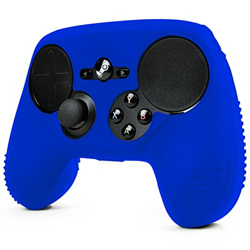 ParticleGrip STUDDED Skin for Steam Controller by Foamy Lizard ® Sweat Free 100% Silicone Skin Cover w/Raised Anti-slip Studs *CONTROLLER NOT INCLUDED* (SKIN, BLUE)