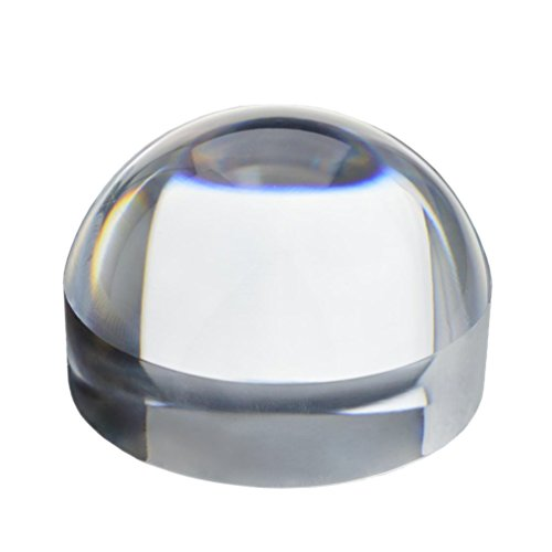 Dome Magnifier (KINGMAS 65mm/80mm Crystal Clear Paperweight 5X Dome Magnifier Reading Aid)