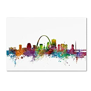 Trademark Fine Art St. Louis Missouri Skyline by Michael Tompsett, 16x24-Inch